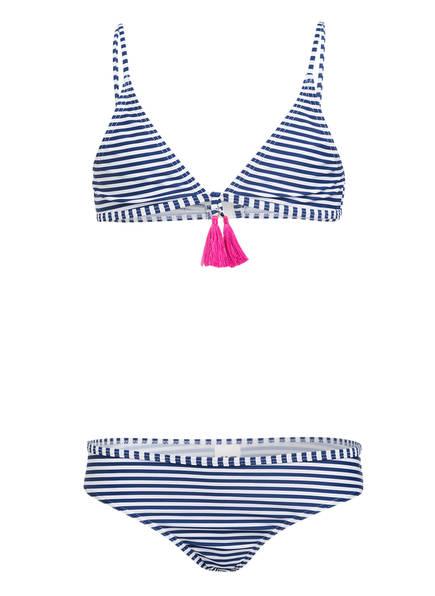 Hot Stuff Triangel-Bikini STRIPES , Farbe: BLAU/ WEISS (Bild 1)
