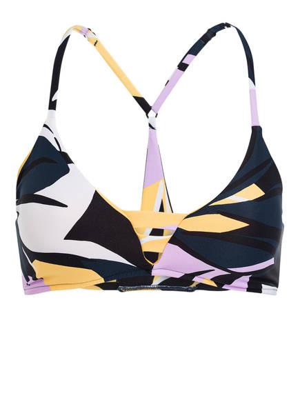 SEAFOLLY Bralette-Bikini-Top CUT COPY, Farbe: BLAU/ GELB/ FLIEDER (Bild 1)