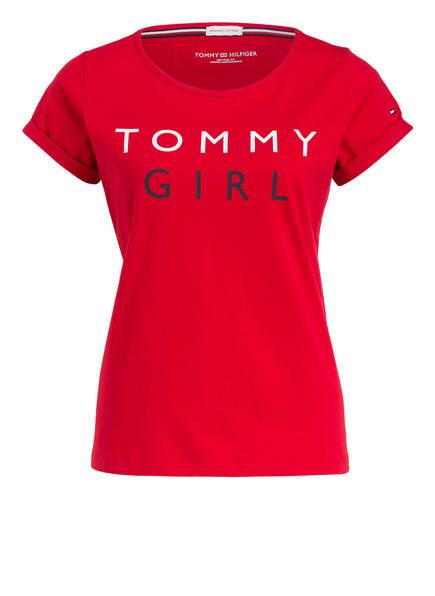 TOMMY HILFIGER Schlafshirt, Farbe: DUNKELROT (Bild 1)
