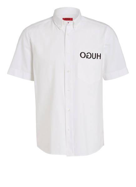 HUGO Halbarm-Hemd EKILIO Straight Fit, Farbe: WEISS (Bild 1)