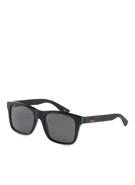 GUCCI Sonnenbrille GG0008S, Farbe: 007 - SCHWARZ/ GRAU (Bild 1)