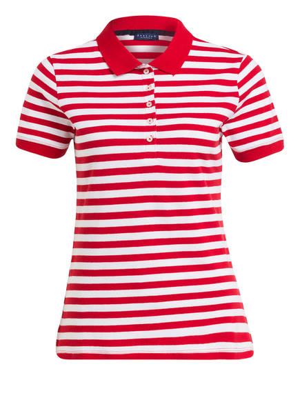DARLING HARBOUR Piqué-Poloshirt, Farbe: ROT/ WEISS GESTREIFT (Bild 1)