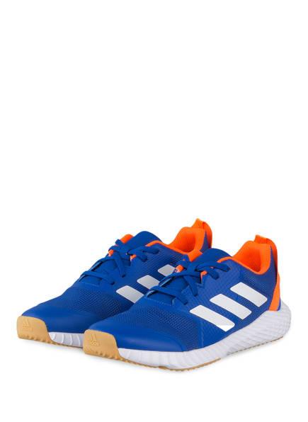 adidas Trainingsschuhe FORTAGYM, Farbe: BLAU/ WEISS/ ORANGE (Bild 1)