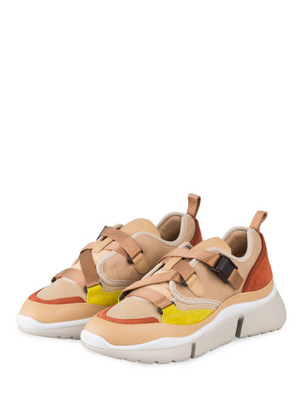 Chloé Sneaker SONNIE LOW, Farbe: MAPLE PINK (Bild 1)