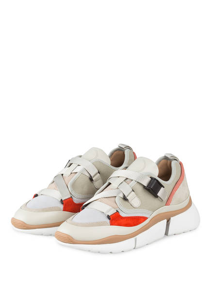 Chloé Sneaker SONNIE LOW, Farbe: LIGHT EUCALYPTUS (Bild 1)