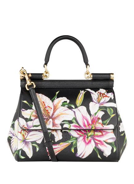 DOLCE&GABBANA Handtasche MISS SICILY SMALL , Farbe: SCHWARZ/ CREME/ GRÜN (Bild 1)