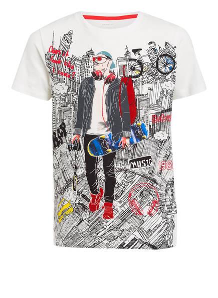 name it T-Shirt, Farbe: WEISS/ SCHWARZ/ ROT (Bild 1)