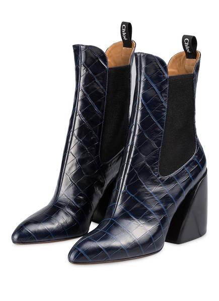 Chloé Cowboy Boots WAVE, Farbe: NAVY INK (Bild 1)