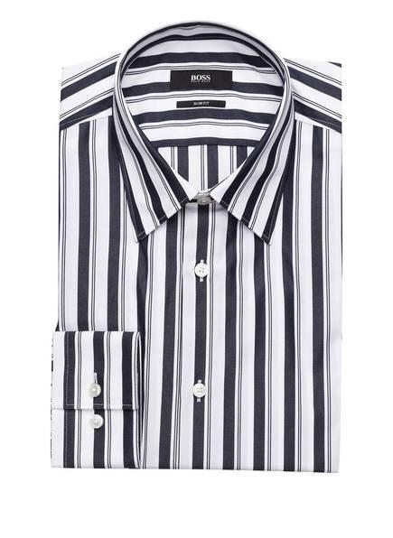 BOSS Hemd IROS Slim Fit, Farbe: DUNKELBLAU/ WEISS GESTREIFT (Bild 1)