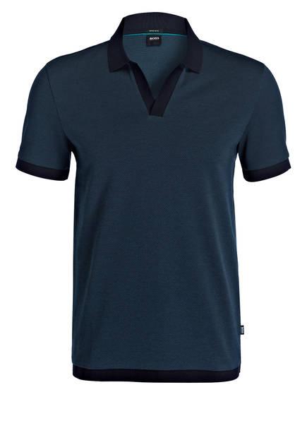 BOSS Piqué-Poloshirt PYE Regular Fit, Farbe: PETROL (Bild 1)