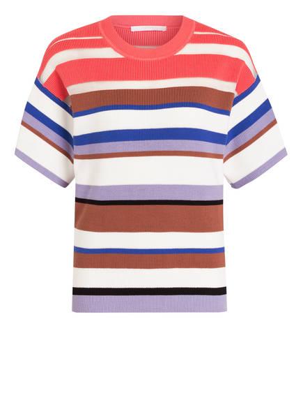 BOSS Strickshirt FLOREALIS , Farbe: WEISS/ BRAUN/ ROSA (Bild 1)