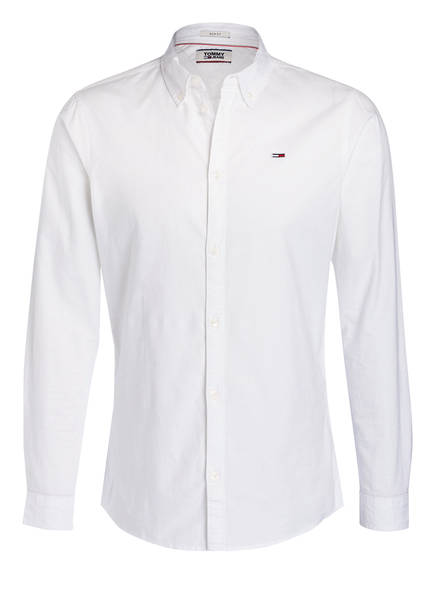 TOMMY JEANS Hemd Slim Fit, Farbe: WEISS (Bild 1)
