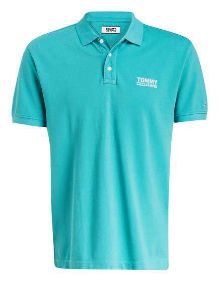 TOMMY JEANS Piqué-Poloshirt Regular Fit, Farbe: TÜRKIS (Bild 1)