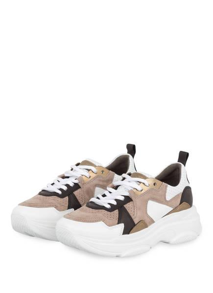 KENNEL & SCHMENGER Sneaker CLOUD, Farbe: TAUPE/ WEISS/ DUNKELBRAUN (Bild 1)