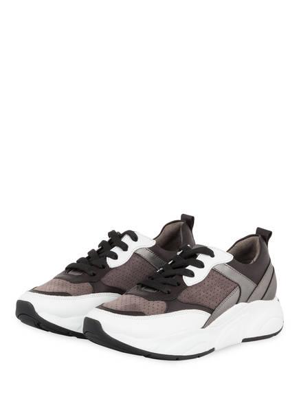 KENNEL & SCHMENGER Sneaker CALF, Farbe: TAUPE/ DUNKELBRAUN/ WEISS (Bild 1)