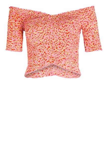 Poupette St Barth Off-Shoulder-Shirt SOLEDAD, Farbe: PINK/ GELB (Bild 1)
