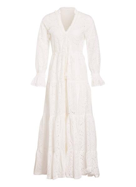 Poupette St Barth Kleid RITA mit Lochstickerei, Farbe: WEISS (Bild 1)