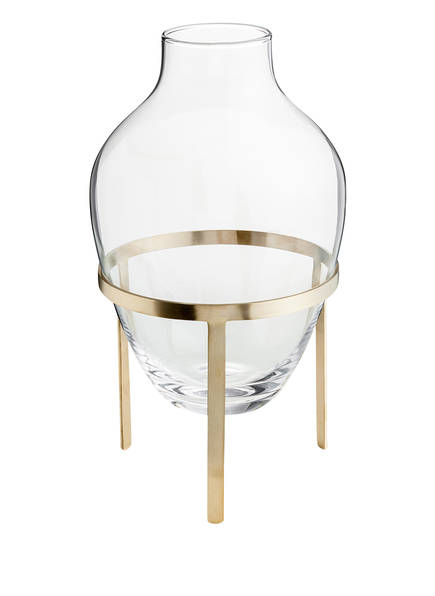 Nordstjerne Vase ADORN, Farbe: TRANSPARENT/ GOLD (Bild 1)