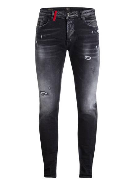ER ELIAS RUMELIS Jeans NOEL Tapered Fit , Farbe: DUNKELGRAU (Bild 1)