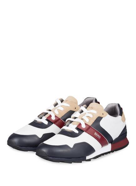 BOSS Sneaker PARKOUR, Farbe: WEISS/ SCHWARZ/ BEIGE (Bild 1)