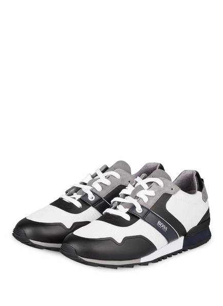 BOSS Sneaker PARKOUR, Farbe: WEISS/ GRAU/ SCHWARZ (Bild 1)