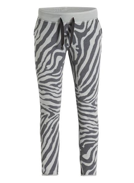 Juvia Sweatpants, Farbe: DUNKELGRAU/ MINT GEMUSTERT (Bild 1)
