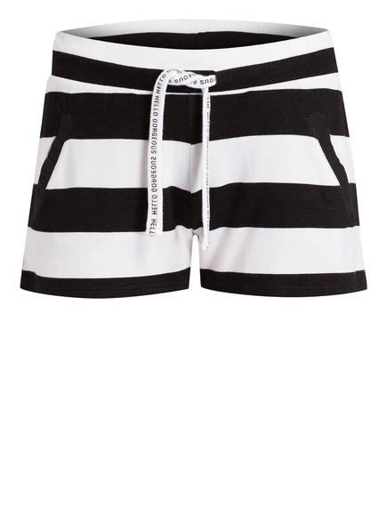 Juvia Jersey-Shorts, Farbe: SCHWARZ/ WEISS GESTREIFT (Bild 1)