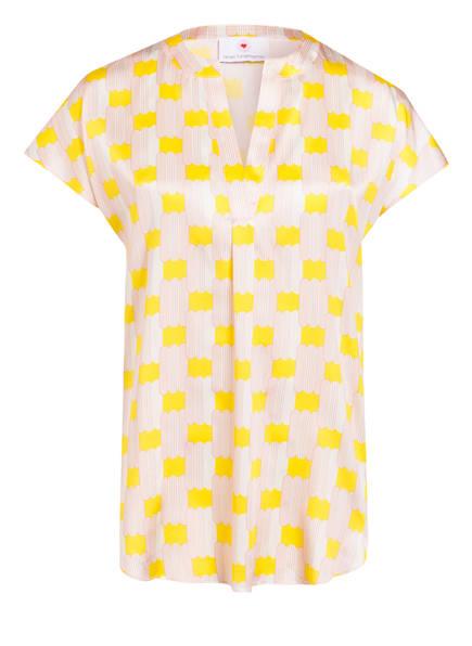 herzensangelegenheit Blusenshirt aus Seide , Farbe: HELLROSA/ GELB (Bild 1)