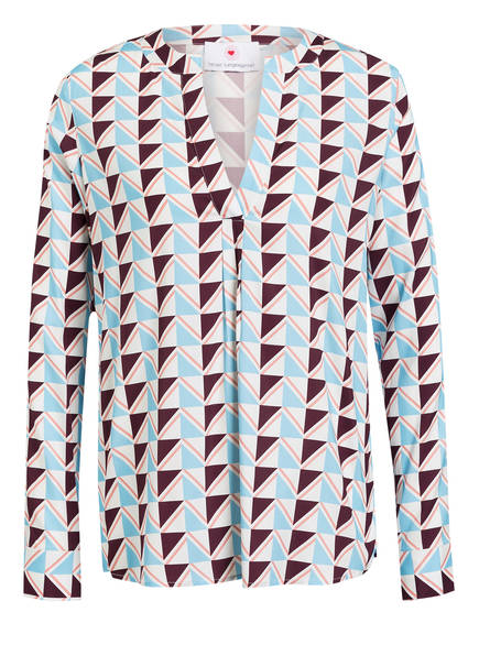 herzensangelegenheit Bluse, Farbe: WEISS/ HELLBLAU/ DUNKELROT (Bild 1)