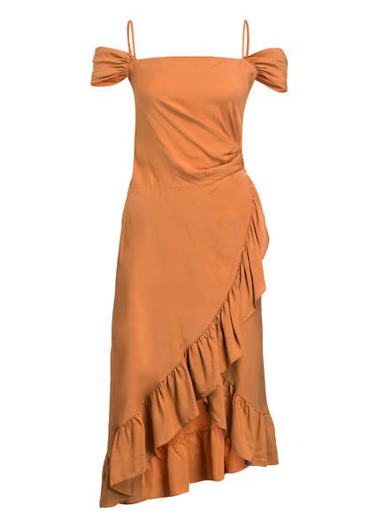 maje Off-Shoulder-Kleid ROUTILA, Farbe: TERRACOTTA (Bild 1)