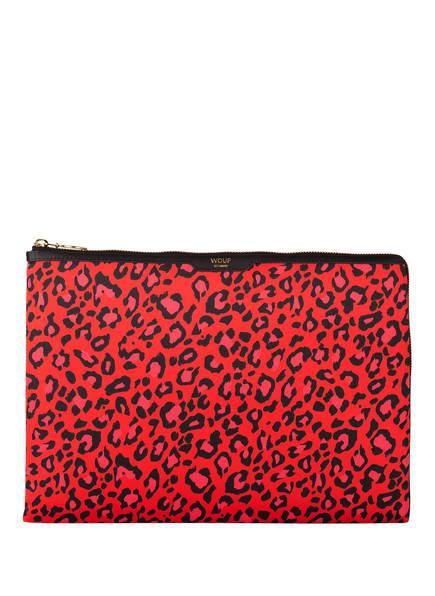 WOUF Laptop-Hülle RED LEOPARD, Farbe: ROT/ SCHWARZ (Bild 1)