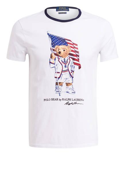 POLO RALPH LAUREN T-Shirt Custom Slim Fit, Farbe: WEISS (Bild 1)