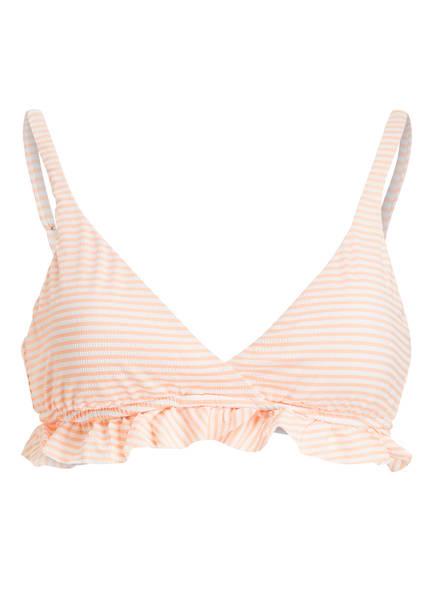 POLO RALPH LAUREN Triangel-Bikini-Top , Farbe: ORANGE/ WEISS (Bild 1)