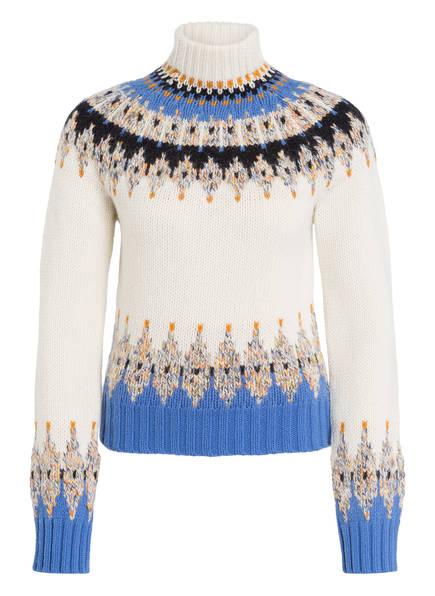STINE GOYA Pullover JUSTIN, Farbe: ECRU/ HELLBLAU/ SCHWARZ (Bild 1)