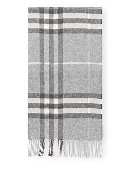 BURBERRY Cashmere-Schal , Farbe: GIANT CHECK/ PALE GREY (Bild 1)
