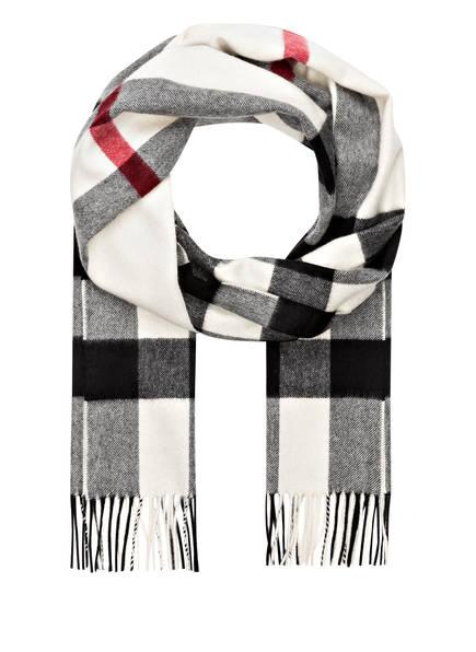 BURBERRY Cashmere-Schal, Farbe: HALF MEGA CHECK/ WEISS (Bild 1)