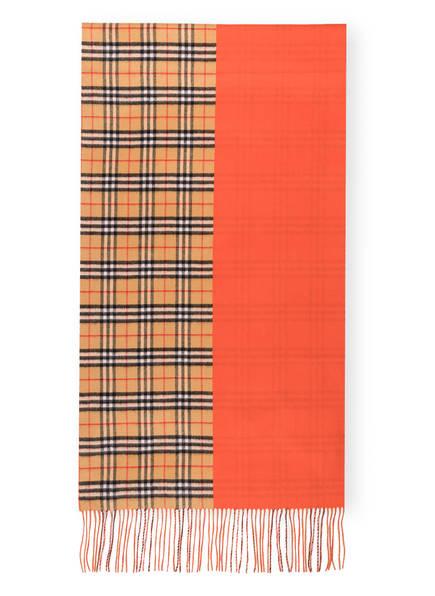 BURBERRY Cashmere-Schal, Farbe: VINTAGE CHECK/ VIBRANT ORANGE (Bild 1)