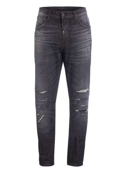 Nudie Jeans Destroyed Jens LEAN DEAN Slim Tapered Fit , Farbe: SMASHING BLACK (Bild 1)