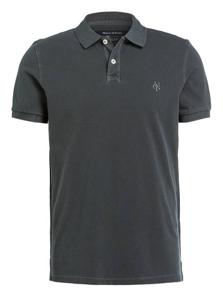 Marc O'Polo Piqué-Poloshirt Regular Fit, Farbe: DUNKELGRÜN (Bild 1)