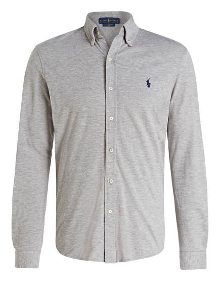 POLO RALPH LAUREN Jerseyhemd Custom Fit, Farbe: GRAU MELIERT (Bild 1)