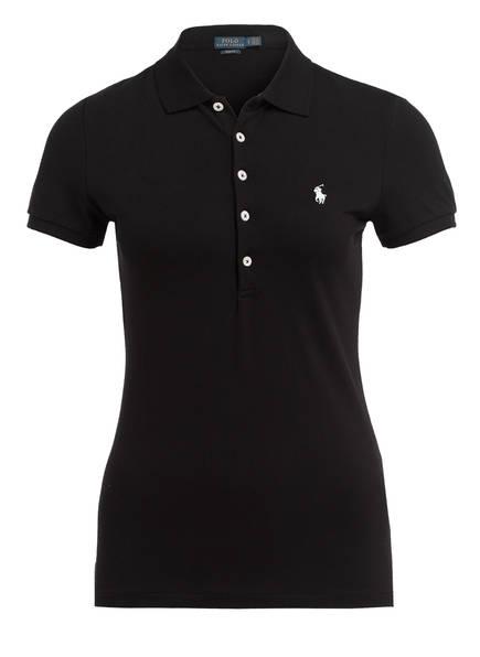 POLO RALPH LAUREN Piqué-Poloshirt , Farbe: SCHWARZ (Bild 1)