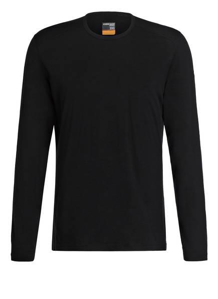 icebreaker Funktionswäsche-Shirt 200 OASIS , Farbe: SCHWARZ (Bild 1)