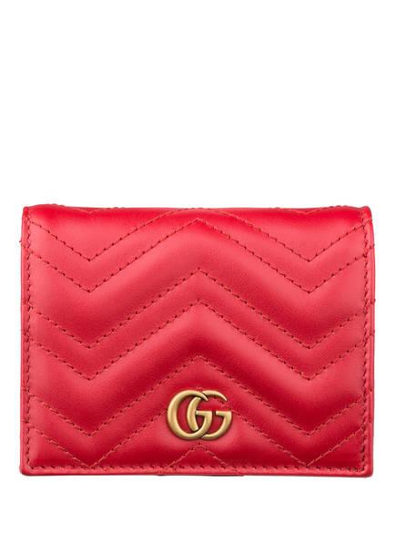 GUCCI Kartenetui GG MARMONT, Farbe: RED (Bild 1)