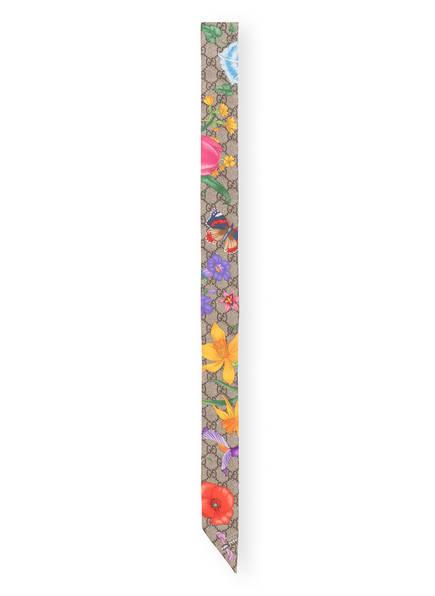 GUCCI Seidenschal, Farbe: BEIGE/ LILA/ DUNKELGELB (Bild 1)