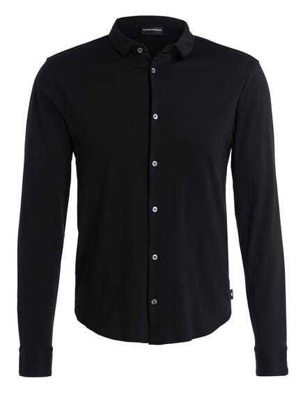 EMPORIO ARMANI Jerseyhemd Slim Fit , Farbe: SCHWARZ (Bild 1)