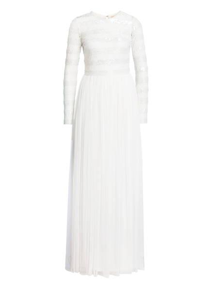 frock & frill Abendkleid mit Pailletten- und Schmuckperlenbesatz, Farbe: WEISS (Bild 1)