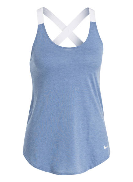 Nike Top DRI-FIT , Farbe: HELLBLAU MELIERT (Bild 1)