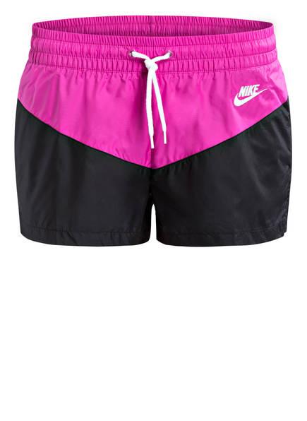 Nike Trainingsshorts HERITAGE, Farbe: SCHWARZ/ FUCHSIA/ WEISS (Bild 1)