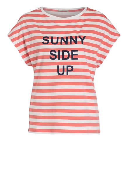 mey Lounge-Shirt KATI, Farbe: HELLROT/ WEISS GESTREIFT (Bild 1)