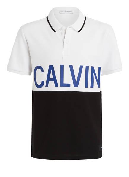 Calvin Klein Poloshirt, Farbe: SCHWARZ/ WEISS/ BLAU (Bild 1)